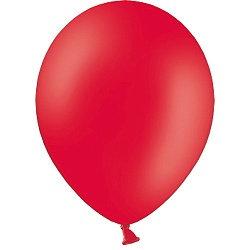 10 латексных шаров 30 см.,цвет красный пастель