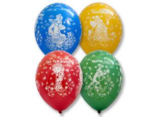 Букет из 10 латексных шаров Простоквашино