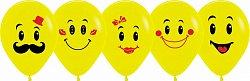 Букет из 10 латексных шаров с рисунком Улыбки