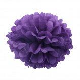 Помпон из бумаги, 15-50 см. фиолетовый