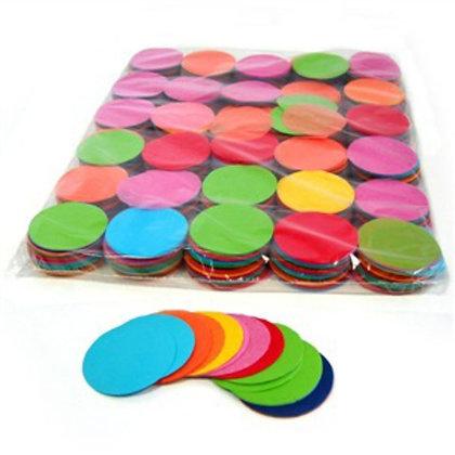 Конфетти круг бум 4,5 см, 20 г. Rainbow