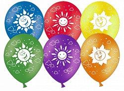 Букет из 10 латексных шаров рисунок Солнце