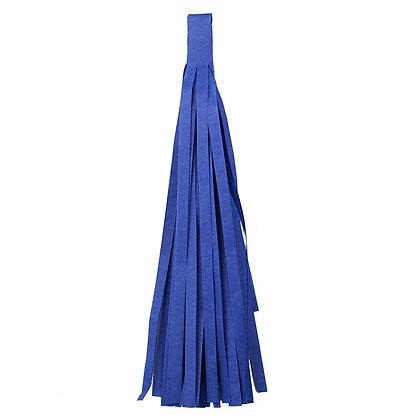 Кисточка Тассел, бумага Тишью, 30 см. синяя
