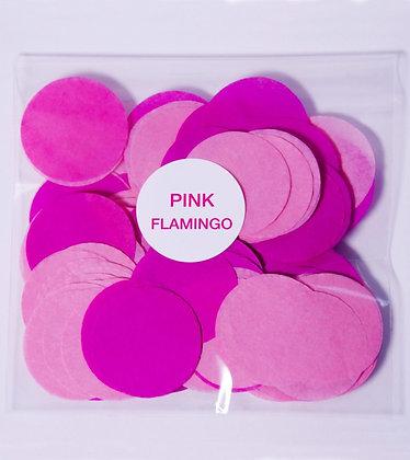 Конфетти круг бум 4,5 см, 20 г. Pink Flamingo