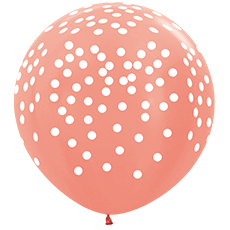 Большой шар 90 см. принт Конфетти цвет персик