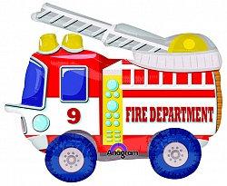 Ходячий фольгированный шар Пожарная машина
