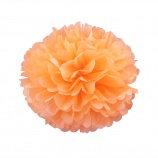 Помпон из бумаги, 15-50 см. светло-оранжевый