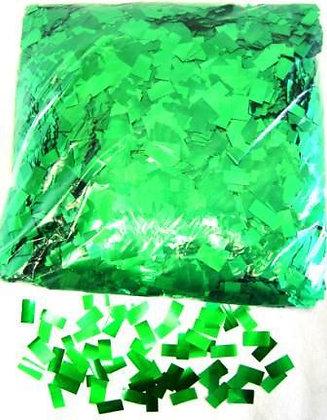 Конфетти прямоуг. мет. 1х2см, 50 г. зеленый