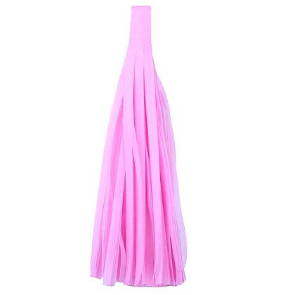 Кисточка Тассел, бумага Тишью, 30 см. розовая