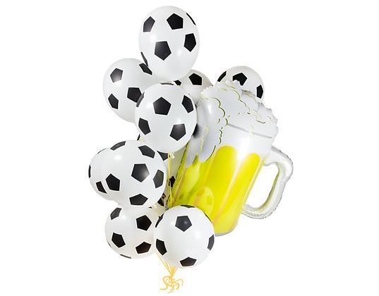 """Букет из фольгированных фигурных шаров """"Футбол"""""""