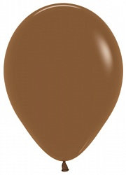 10 латексных шаров 30 см., цвет коричневый пастель
