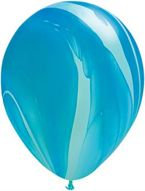 Букет из 10 латексных шаров Мрамор (Агат) синий