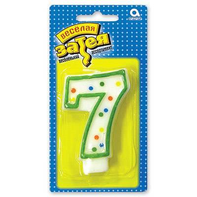 Свеча цифра 7