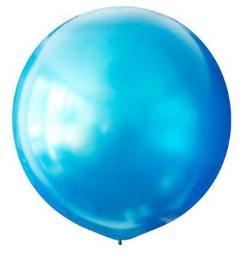 Большой шар синий металлик