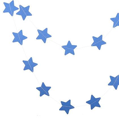 Гирлянда звезды блеск 2,5 м. синий