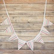 Гирлянда из флажков Pink Stripes