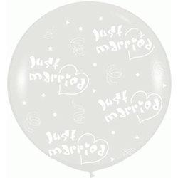Большой шар 90 см. принт Молодожены цвет прозрачный