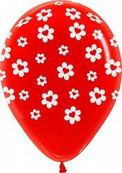 Букет из 10 латексных шаров Сердца Ромашки