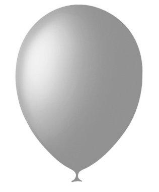 10 латексных шаров 30 см., цвет серый пастель