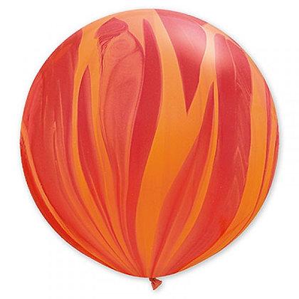 Большой шар Агат 90 см. красно-оранжевый