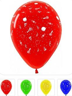 Букет из 10 латексных шаров с рисунком Праздник