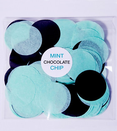 Конфетти круг бум 4,5 см, 20 г.Mint Chocolate Chip