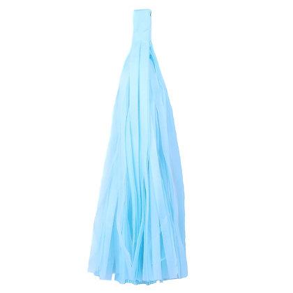 Кисточка Тассел, бумага Тишью, 30 см. светло-голуб