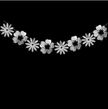 Гирлянда цветы серебро