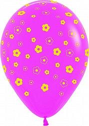 Букет из 10 латексных шаров с рисунком Ромашки