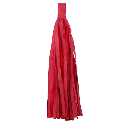 Кисточка Тассел, бумага Тишью, 30 см. красная