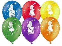 Букет из 10 латексных шаров рисунок Принцессы