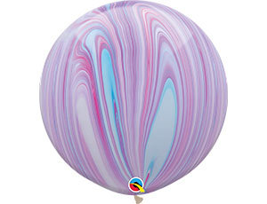 Большой шар Агат 90 см. сиренево-голубой