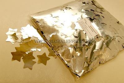 Конфетти звезды мет. 4,1см, 50 г. золото