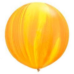 Большой шар Агат 90 см. желто-оранжевый