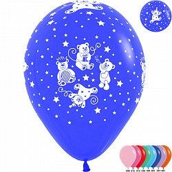 Букет из 10 латексных шаров с рисунком Мишки