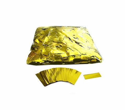 Конфетти прямоуг. мет. 1,7х5,5см, 50 г. золото