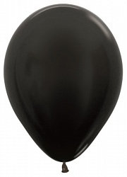 10 латексных шаров 30 см., цвет черный пастель