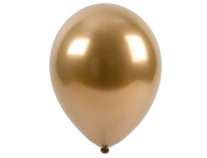 10 латексных шаров 30 см., цвет хром золото