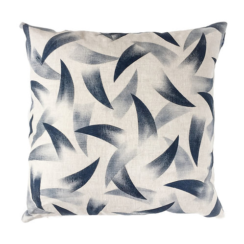 50 x 50 cm oatmeal linen pillow sleeve with a Scandinavian style abstract print