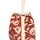 Thumbnail: Large project bag for knitting, crochet or craft supplies red with flower patter