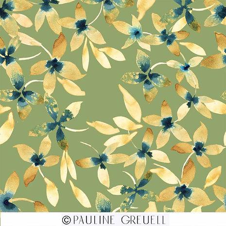 flowers in a golden light  groene achter
