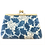 Thumbnail: linen frame purse, hawthorn inspired print in blue