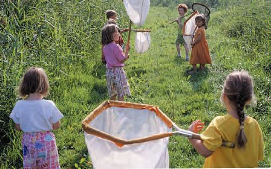 Engaging with nature helps children thrive. [Photo from National Trust's 'Natural Childhood' report - not the children in our project.]