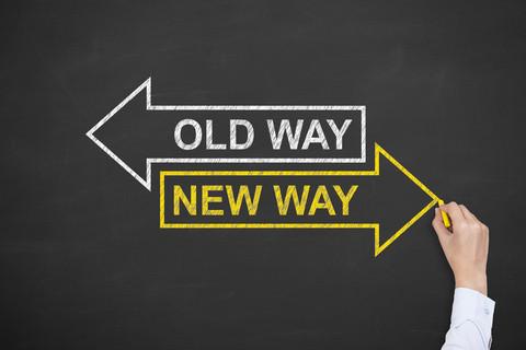 Old Way New Way Sign