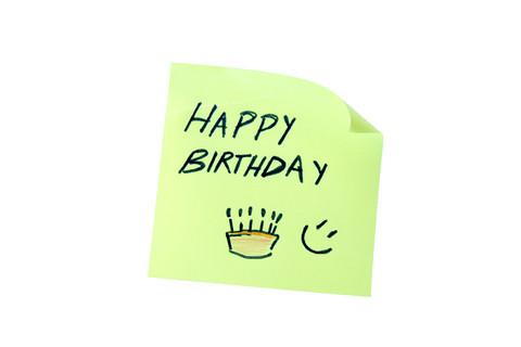 Happy Birthday sticky note