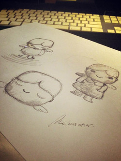 Sketching for Little Angel :: Annie