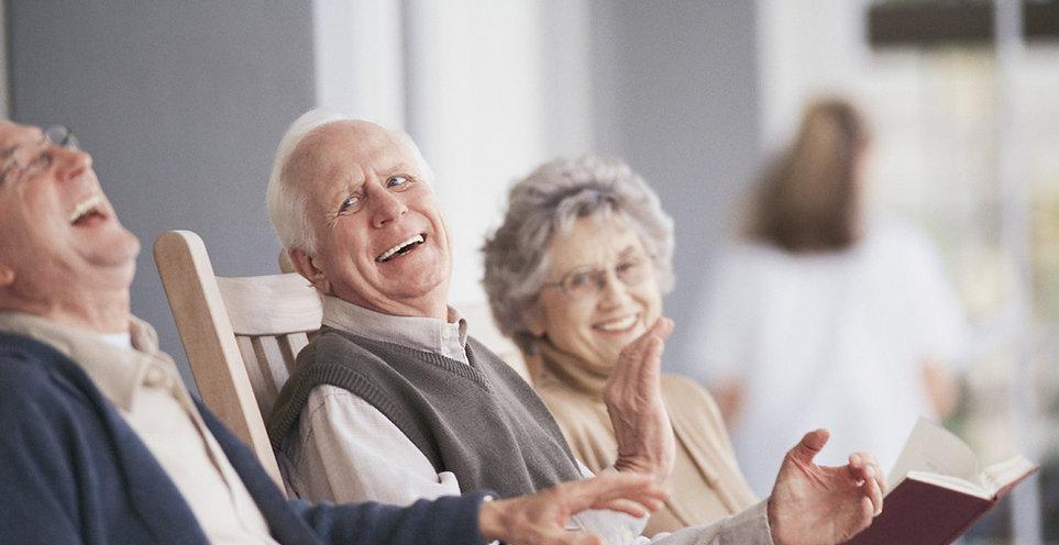Group of seniors enjoying  laugh