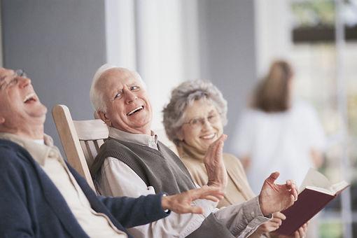 elderly people laughing