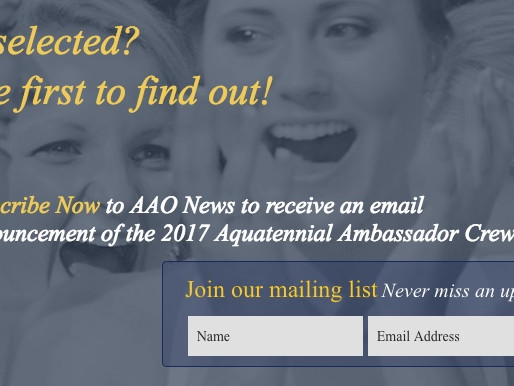 Be among the first to know the 2017 Aquatennial Ambassador Crew