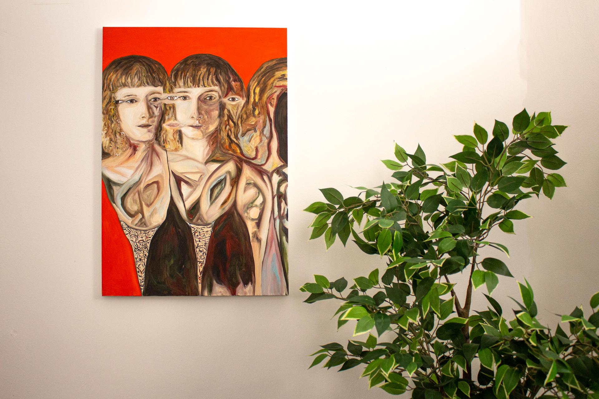 "Alessandro Giannì, ""Luisa e il qui di ieri"", 2018, olio su tela, 50 x 70 cm"